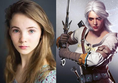 Freya Alla frente a Ciri en The Witcher 3