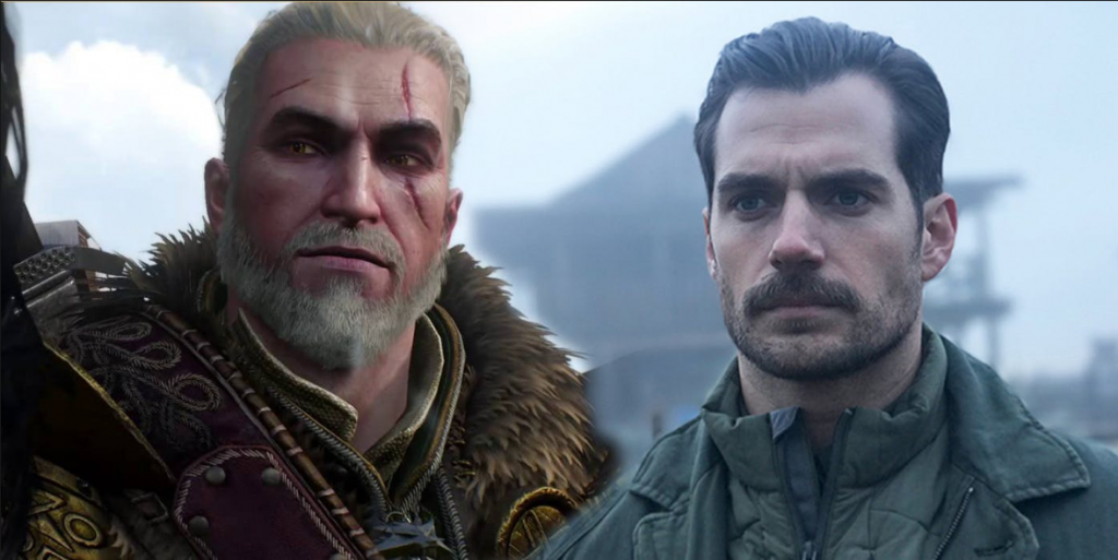 Henry Cavill Retrato e imagen de The witcher 3