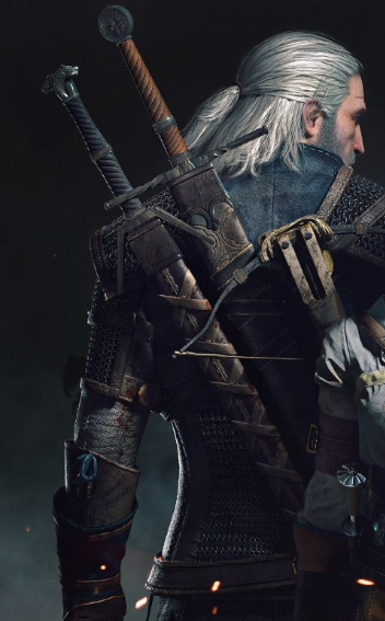 Geral de espaldas en The Witcher 3