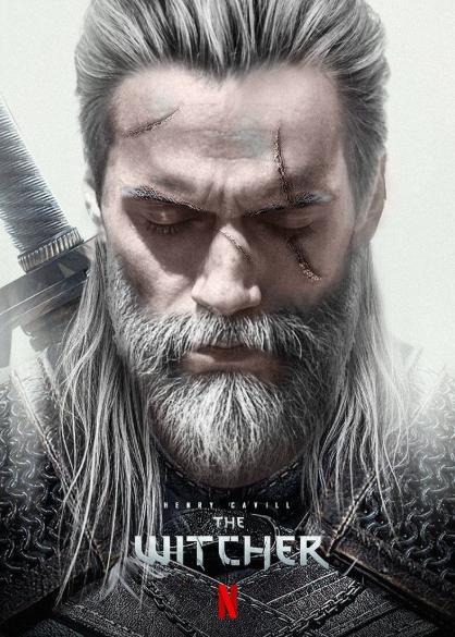 Poster Geralt de Rivia en la serie de Netflix