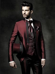 traje de chaqueta con levita
