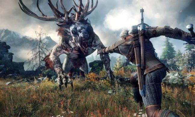 Geralt cazando monstruos