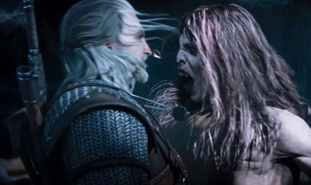 Geralt y la Strige enfrentamiento en el último deseo. The Witcher