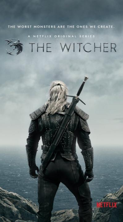 Poster oficial de the witcher la serie de Netflix