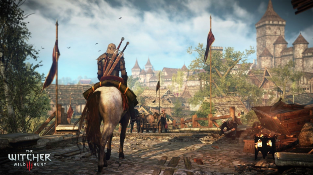 Geralt de Ribia junto a Roach Sardinilla en The Witcher 3