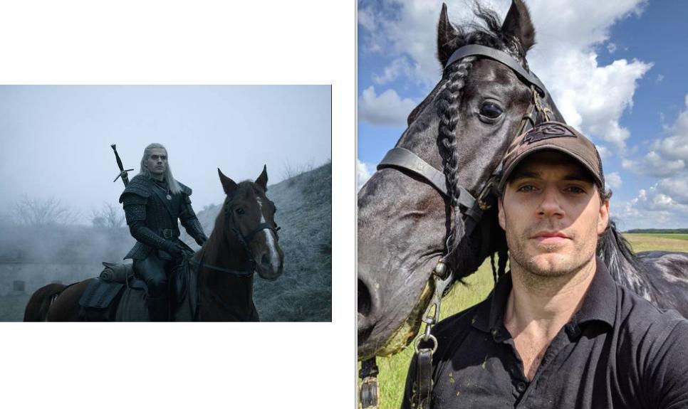 Geralt de Rivia Henry Cavilla a caballo